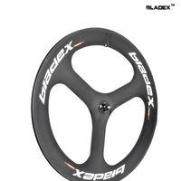 BEST CARBON Tri Spoke Wheel 3S(Rear) - 3 SPOKE Clincher; For Road Or Fixed Gear; Triathlon / Time Trial Bike Wheel