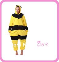 Bee Animal Cosplay Onesies Halloween Carnival Pajamas Costume One Piece Jumpsuit