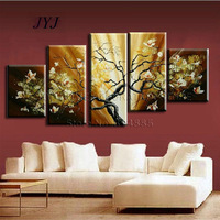 Palette Knife Painted ,5 Piece 100% Handmade Flower  Modern Oil Painting On Canvas Wall Art Gift  ,Top Home Decoration Z040