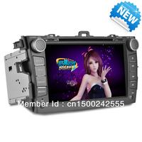 Toyota Colorra 2007-2011  2 Din 8 Inch Car DVD Player with GPS,Bluetooth,USB/SD FM/AM
