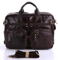 Commercial series male personality elegant male genuine leather handbag messenger bag multi-function bags 7026c-1