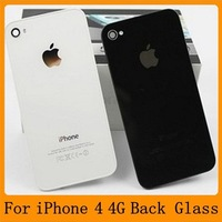 OEM Back Glass For iPhone 4 4S 4g Back Housing Glass Battery Cover Replacement Black / White   20% OFF for 2PCS!