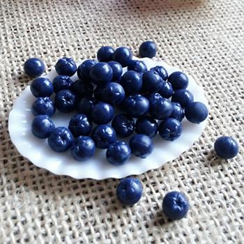 50pcs/lot whosale miniature blueberry (S)  fake fruit for sweet deco kawaii imilitation food blueberries MF014 free shipping