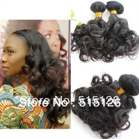 100% Aunty Funmi Hair 4pcs/lot Brazilian Virgin Hair Egg Curl 8-28'' Free Shipping 100g/pc Full Cuticle Intact High Quality