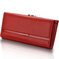 7Colors Classic women's wallet artificial leather long wallet cowhide women's design day clutch