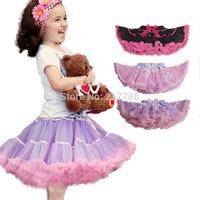 girls colorful skirt girl skirt with ribbons girls ball gown skirt Children's Clothing high quality soft chiffon ruffles edge 08