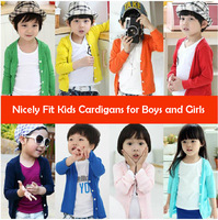 Free shipping new 2014 Candy Colors Children Cardigans for girls and boys/kids sunscreen clothes