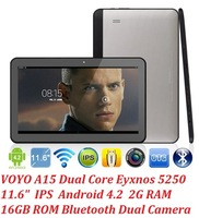 New big size 11.6 inch android tablet pc Voyo A15 IPS 1920x1080px Exynos 5250 Dual core 2.0GHz 2GB 16GB Bluetooth USB 3.0