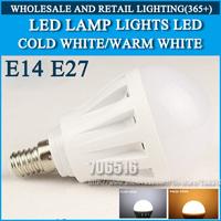 4W 5W  6W 7W LED E14 LED lamp High brightness lights LED bulb Cold white/warm white AC220V 230V 240V Free shipping