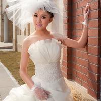 2013 tube top spring princess wedding dress mermaid dress muslim dress maternity wedding dress