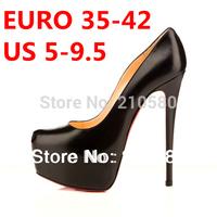 New Arrival Platform Pumps Victoria Style 14cm High Heels Single Shoes black/beige