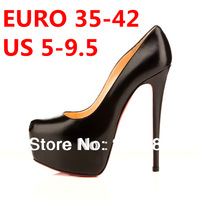 2013 Autumn New Arrival Platform Pumps Victoria Style 14cm High Heels Single Shoes black/beige