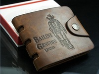 Dropshipping 2013 Bailini new stylish Men wallet+genuine cow Leather Card Clutch Cente Bifold Purse