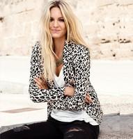 new 2014 spring WOMAN SUIT BLAZER FOLDABLE BRAND JACKET women clothes suit casual  leopard Coat