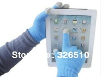 Free Shipping  Magic Touch Screen Gloves Smartphone Texting Stretch Adult One Size Winter Knit