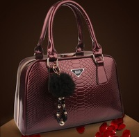 REAL LEATHER High quality 2013 women's handbag serpentine pattern cowhide bride women's handbag