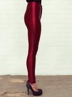 high waisted shiny disco pants, high waist lady disco pants, polyester spandex disco pants, Free shipping