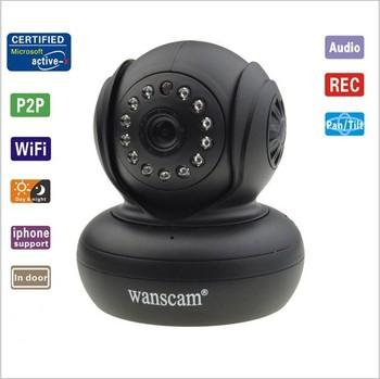 Plug&Play Wireless WiFi WPA Network Webcam IP Internet Camera Dual Audio Pan Tilt Night Vision IR Home Security Surveillance