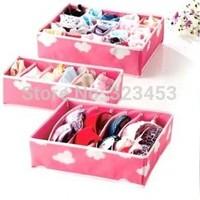 Folding boxes &bin 3PCS Underwear Bras Socks Storage Organizer Box Set organizador