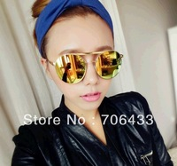 Free dropshipping Unisex 2013 fresh look color new vintage reflective sunglasses women cool jackets for sports Men glasses SG99