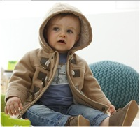 Free shipping,2013 winter fashion horn button child thickening overcoat male child outerwear boy jacket wholesale 4pcs/lot.32