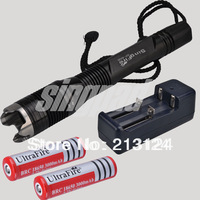 FREE SHIPPING Flashlight 100meter 1000 Lumens CREE XM-L XML T6 LED Flashlight 18650 Battery Waterproof Diver Diving Flashlight