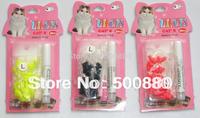 retail packing  Pet cat Nail Sets Soft Claws Nail Cap Paw Caps Pet Nail Cover 6 Colors 20pcs/Card + adhensive