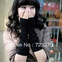 Free shipping K10 new Korean men and women Hip-hop fashion warm long gloves arm sleeve gloves mitts wristband cuff