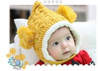 free shipping 2013 winter thicked warm Hat and cap for children winter scarves hats for boys and girls
