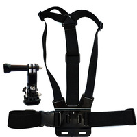 F05671 OEM 3-Way Adjustment Base Mount + Adjustable Elastic Body Chest Strap Shoulder Belt for GoPro HD Hero 1 2 3 + Freeship