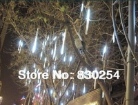 New White LED Meteor Shower Rain Tube Lights Outdoor Tree Decoration Free Shipping&Wholesale