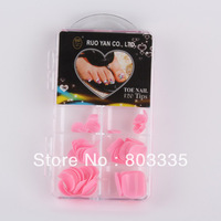 Free Shipping Ruoyan Full cover 120pcs Pvc Hard box Good quality Fashion Toe Nail tips