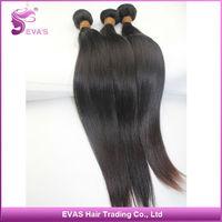 EVAS Hair Products Best Quality Unprocessed Virgin Malaysian Hair Straight 5pcs/Lot 6A Top Grade Virgin Human Hair Extension