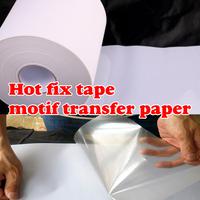 5M length/Lot ,24CM wide Hot Fix Tape & Paper adhesive iron on heat transfer film super quality for HotFix rhinestones DIY tools