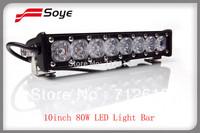10'' 80w cree led light bar for trucks waterproof led light bar
