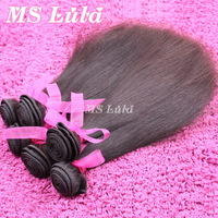 FREE SHIPPING Ms lula hair Virgin Peruvian Hair Weave Extensions Straight 3pcs lot remy human hair bundles