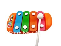 Newest Baby Educational Toy Musical Instrument  4 Different Scales Steel Knock Piano Music Maker 1pcs Free Shipping
