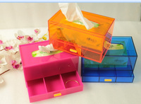 (Free Shipping 1piece) acrylic plexiglass tissue box/acrylic  holder/lucite drawer box /storage boxes