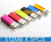 5PCS 512MB USB Drive Memory Flash Swivel thumb stick pendrive Brand New Cheap Price