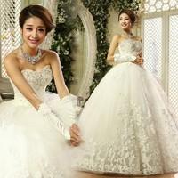 Wholesale Price Plus Size Wedding Dresses 2014 New Arrival Romantic Fashion Gown Tube Top Formal Sweet Princess Bandage Dress