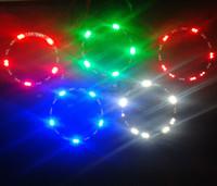 10cm Flash Angel Eyes 30 3528 SMD LED Ring Car Motorcycle Light Free Shipping