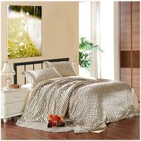 Bedding set luxury/Pink/smooth Silk Blended Silk Summer Cool Wedding Bedding, Luxury Comforter Sets Queen//Free shipping/B005
