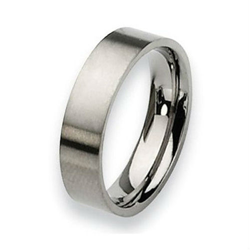Tailor Made Pipe Cut Titanium Ring Brushed Flat Wedding Band Size 3 -18 whole, half & quarter (#TR03)(China (Mainland))