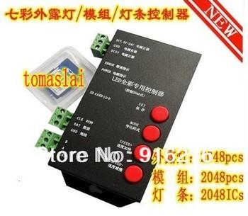 T-1000 Programmable RGB LED Controller w/SD Card Led pixel controller  WS2801,LPD6803 WS2811 TM1804 TM1809 TM1812 DMX512.etc