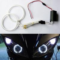 72MM/76MM/80MM/85MM/90MM/97MM/100MM/106MM/115MM/127MM/145MM Motorcycle CCFL Angel Eyes Kit with 2 ccfl halo ring+1 ccfl inverter