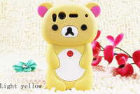 Free Shipping Lovely Cute 3D Cartoon Teddy  Bear Case Cover For HTC  Desire S G12 Silicon Shell Cover Cell Phone Case
