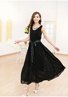 2013 New Women Strap Princess Chiffon long dress Six Colors Hot Sell FREE SHIPPING