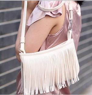 2014 Hot Sale 3 Colors Fashion Fringe Tassel Shoulder Messenger Bag Hand Style Women lady Satchel 1Pcs/Pc Free Shipping(China (Mainland))