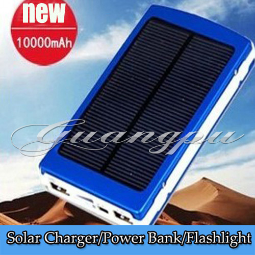 HOT 10000MAH Solar 2 USB Battery Panel Mobile Phone Power Bank External Battery Charger for Nokia iPhone Samsung series(China (Mainland))