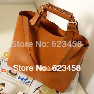 2015 Autumn Fashionable Vintage Women Shoulder Bag High Quality PU Leather Women Handbags Large Capacity Big Bag RT0362